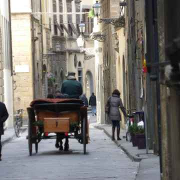 Tour romántico a través de las mejores atracciones de Florencia, en un carruaje