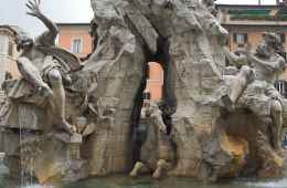 Fountain of Four Rivers in Navona Square