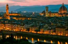 View of Florence at night