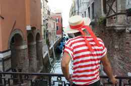 Typical venetian gondolier