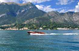 boat in Lake como