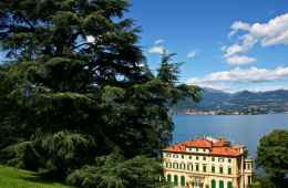 View of Maggiore Lake with Villa