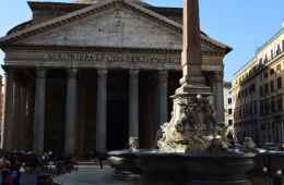 View of the Pantheon facade