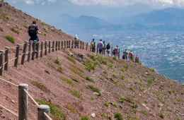 Path on the Mount Vesuvius
