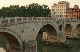 View of Ponte Sisto in Rome