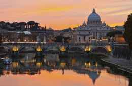 Sunset over Vatican City in Tour of Vatican Museums, Sistine Chapel and Saint Peter's Basilica
