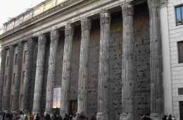 Facade of the Temple of Hadrian in Rome