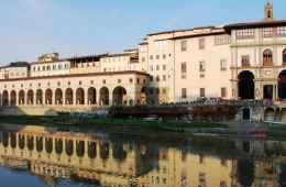 Uffizi Gallery on Arno River
