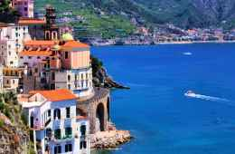 View of amazing Amalfi Coast
