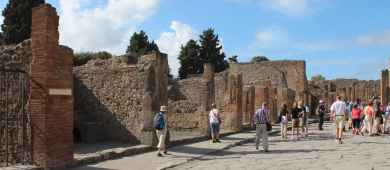 A street in ancient Pompeii