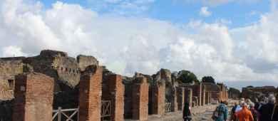 View of Pompeii ruins