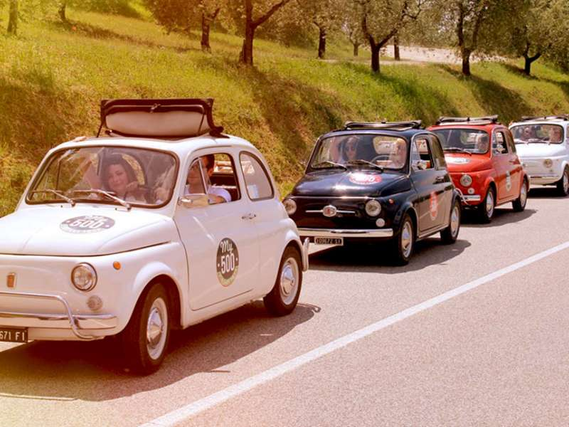 tour by classic fiat 500 vintage of chianti area from. Black Bedroom Furniture Sets. Home Design Ideas