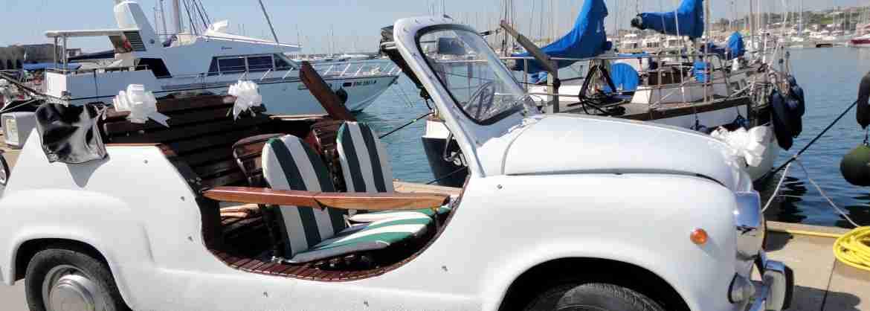 Paseo panorámico de Roma abordo de un auto clásico, Fiat 600 Capri
