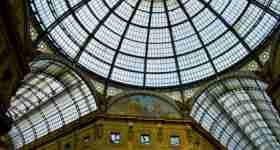 Inside the Vittorio Emanuele Gallery in Milan
