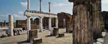View of the ruins from the Pompeii and Amalfi Tour